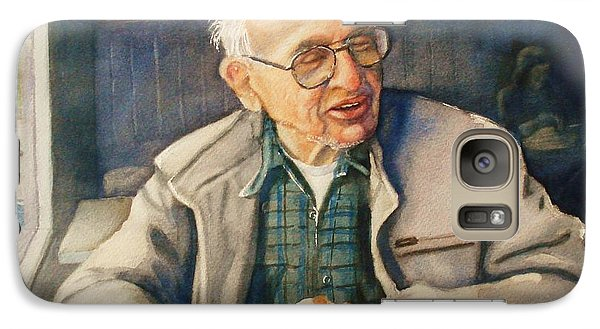 Galaxy Case featuring the painting Coffee With Andy by Marilyn Jacobson