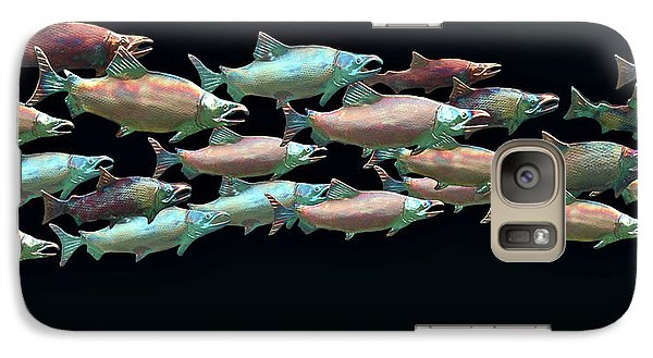 Galaxy Case featuring the photograph Coho Migration by Jeff Burgess