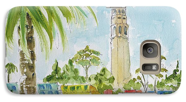 Galaxy Case featuring the painting Coit Tower by Pat Katz