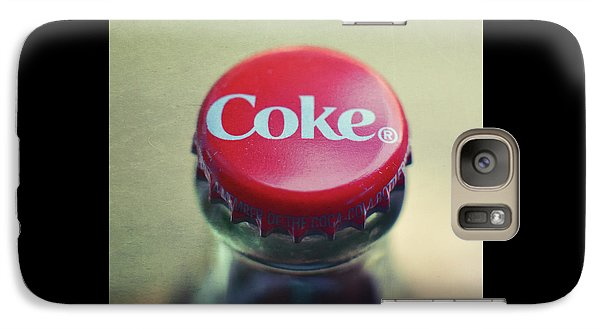 Galaxy Case featuring the photograph Coke Bottle Cap Square by Terry DeLuco