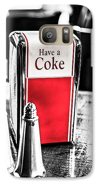 Galaxy Case featuring the photograph Coke Napkins by Karol Livote