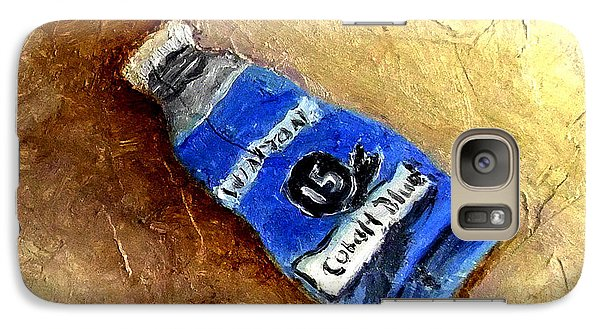 Galaxy Case featuring the painting Colbalt Blue by Fred Wilson