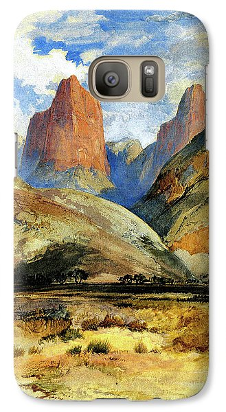 Galaxy Case featuring the painting Colburns Butte South Utah by Thomas Moran