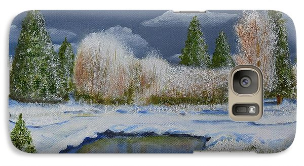 Galaxy Case featuring the painting Cold Sky 1 by Melvin Turner