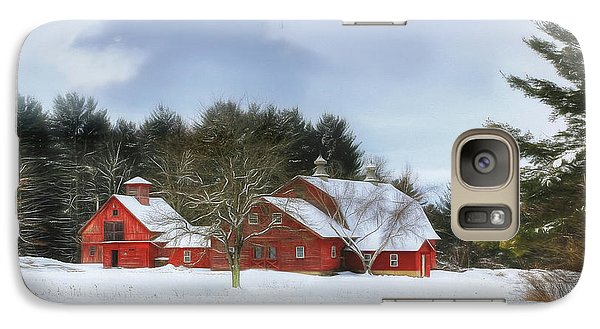 Galaxy Case featuring the digital art Cold Winter Days In Vermont by Sharon Batdorf