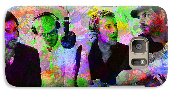 Coldplay Band Portrait Paint Splatters Pop Art Galaxy Case by Design Turnpike