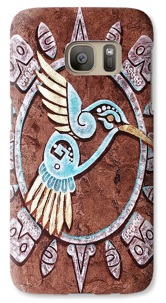 Galaxy Case featuring the painting Colibri by J- J- Espinoza