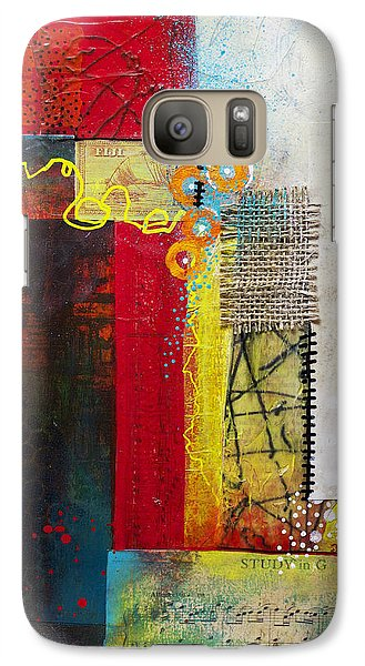 Galaxy Case featuring the painting Collage Art 1 by Patricia Lintner
