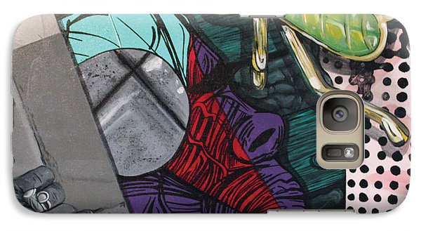Galaxy Case featuring the painting Collage by Jude Labuszewski