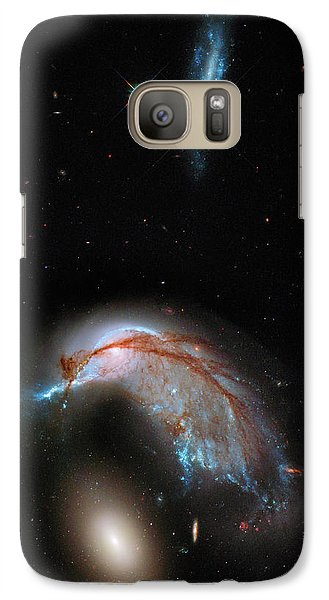 Galaxy Case featuring the photograph Colliding Galaxy by Marco Oliveira