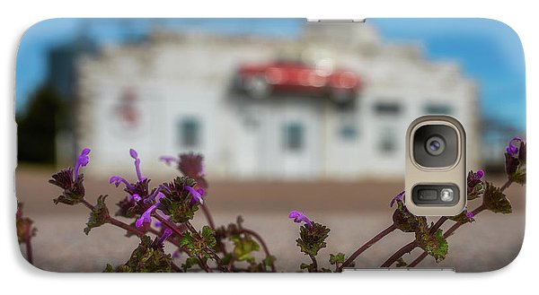 Galaxy Case featuring the photograph Collyer Sidewalk Blooms by Darren White
