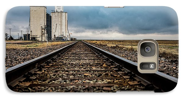 Galaxy Case featuring the photograph Collyer Tracks by Darren White