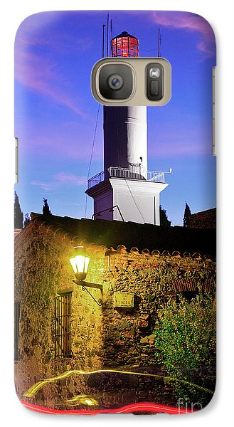 Galaxy Case featuring the photograph Colonia Lighthouse by Bernardo Galmarini