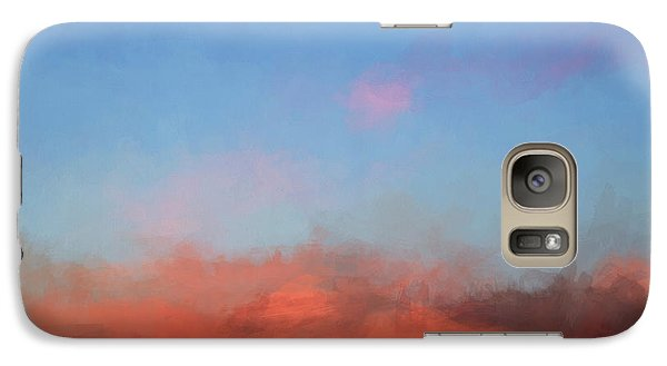 Galaxy Case featuring the photograph Color Abstraction Xlvii - Sunset by David Gordon