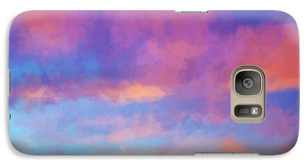 Galaxy Case featuring the digital art Color Abstraction Xlviii - Sunset by Dave Gordon