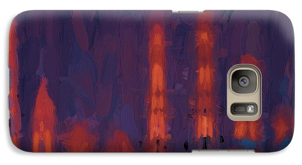 Galaxy Case featuring the digital art Color Abstraction Xxxviii by Dave Gordon