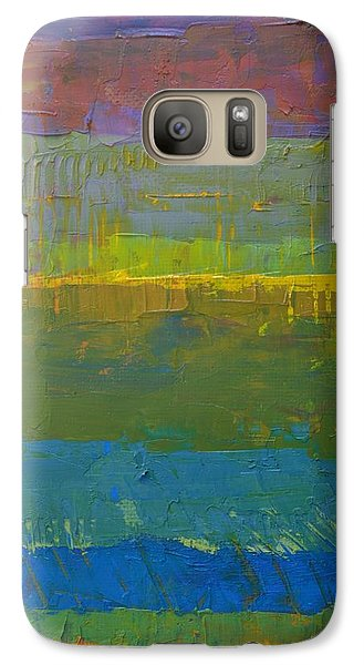 Galaxy S7 Case featuring the painting Color Collage Five by Michelle Calkins