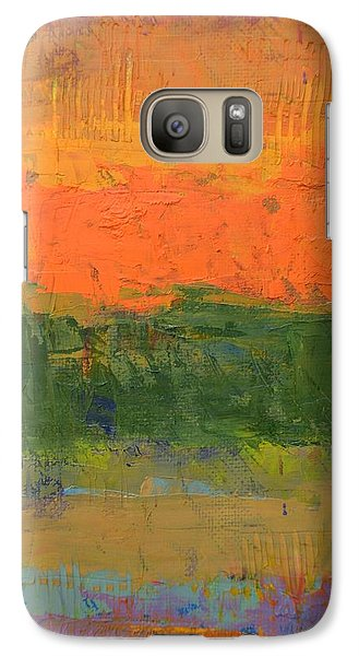 Galaxy S7 Case featuring the painting Color Collage Four by Michelle Calkins