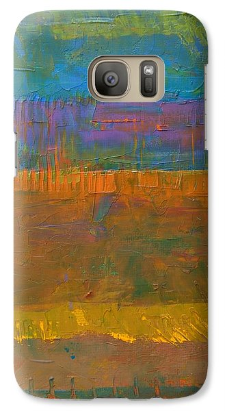 Galaxy Case featuring the painting Color Collage One by Michelle Calkins
