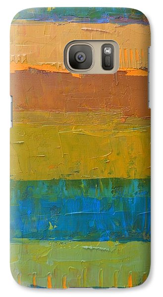 Galaxy S7 Case featuring the painting Color Collage Three by Michelle Calkins