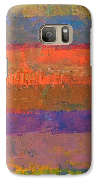 Galaxy Case featuring the painting Color Collage Two by Michelle Calkins