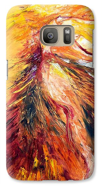 Galaxy Case featuring the painting Color Dance by Marat Essex
