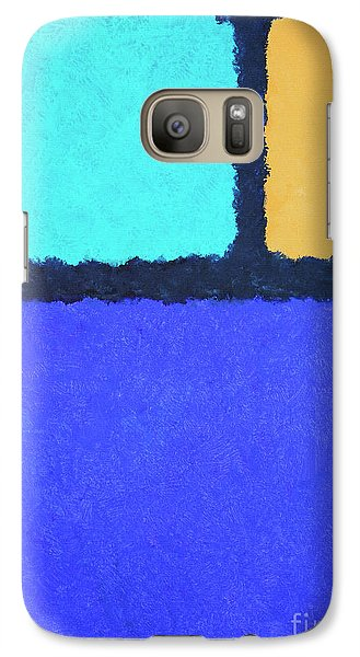 Galaxy Case featuring the painting Color Fields by Jutta Maria Pusl