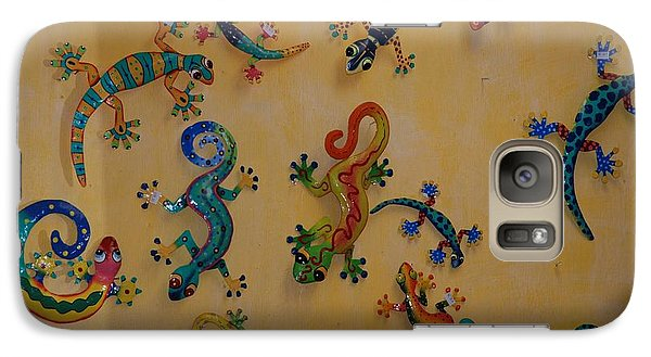 Galaxy Case featuring the photograph Color Lizards On The Wall by Rob Hans