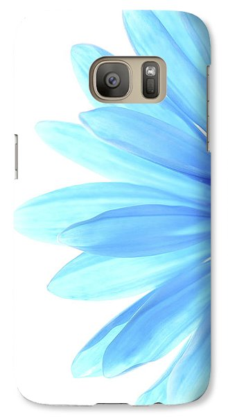 Flowers Galaxy S7 Case - Color Me Blue by Rebecca Cozart