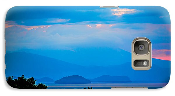 Galaxy Case featuring the photograph Color Over The Lake by Rick Bragan