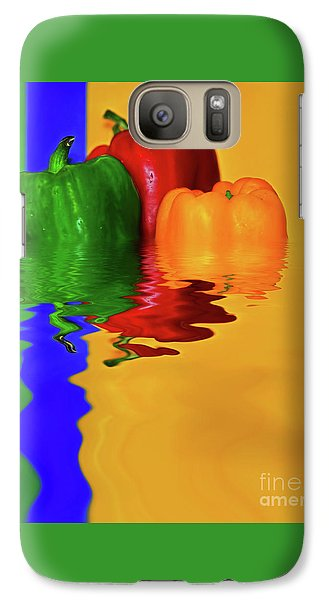 Galaxy Case featuring the photograph Color Pop Peppers By Kaye Menner by Kaye Menner
