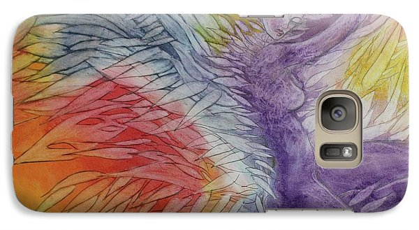 Galaxy Case featuring the drawing Color Spirit by Marat Essex