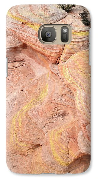 Galaxy Case featuring the photograph Color Swirls In Valley Of Fire State Park by Ray Mathis