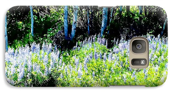 Galaxy Case featuring the photograph Colorado Apens And Flowers by Joseph Hendrix
