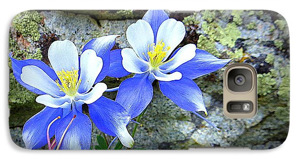 Galaxy Case featuring the photograph Colorado Columbines by Karen Shackles