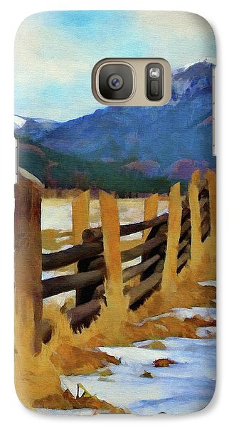 Galaxy Case featuring the painting Colorado Fence Line  by Jeff Kolker