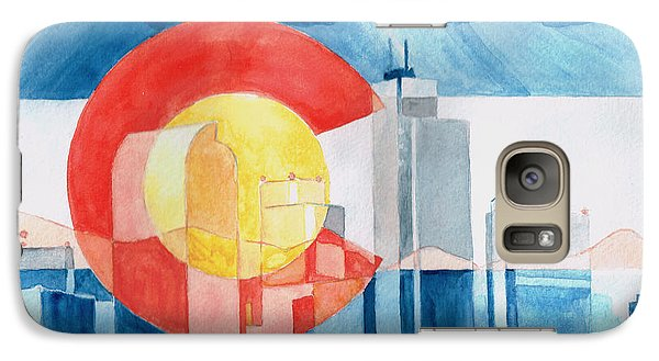 Galaxy Case featuring the painting Colorado Flag by Andrew Gillette