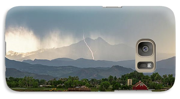Galaxy Case featuring the photograph Colorado Front Range Lightning And Rain Panorama View by James BO Insogna