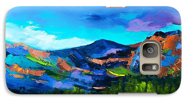 Galaxy Case featuring the painting Colorado Hills by Elise Palmigiani