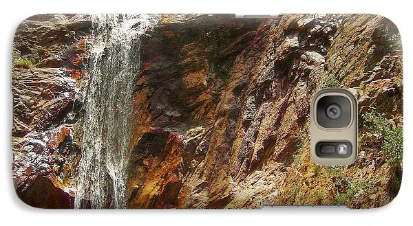 Galaxy Case featuring the photograph Colorado Red Rock Waterfall by Andrea Hazel Ihlefeld