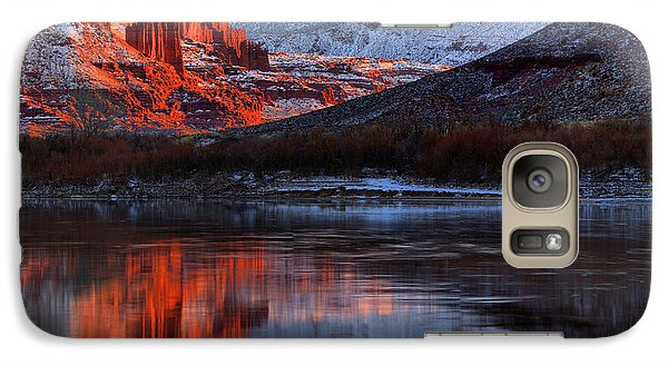 Galaxy Case featuring the photograph Colorado Red Tower Reflections by Adam Jewell