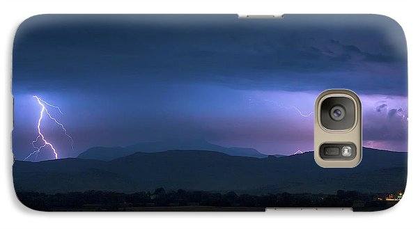 Galaxy S7 Case featuring the photograph Colorado Rocky Mountain Foothills Storm by James BO Insogna