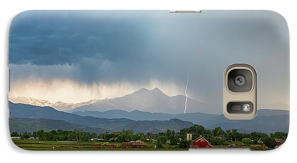 Galaxy Case featuring the photograph Colorado Rocky Mountain Red Barn Country Storm by James BO Insogna