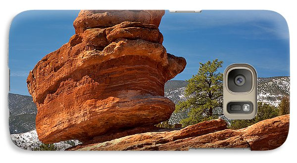 Galaxy Case featuring the photograph Colorado Springs Balanced Rock by Adam Jewell