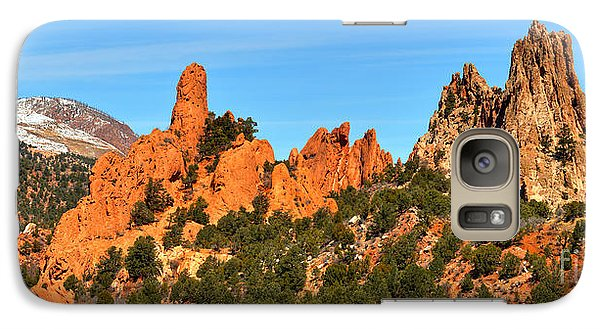 Galaxy Case featuring the photograph Colorado Springs Garden Of The Gods High Point Panorama by Adam Jewell