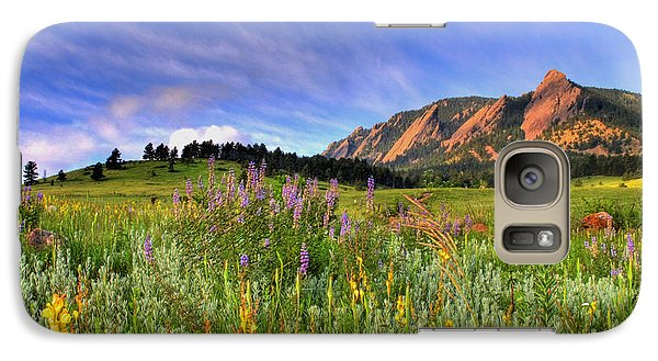 Landscape Galaxy S7 Case - Colorado Wildflowers by Scott Mahon