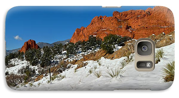 Galaxy Case featuring the photograph Colorado Winter Red Rock Garden by Adam Jewell