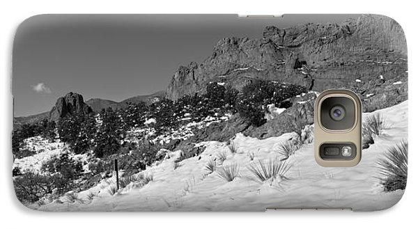 Galaxy Case featuring the photograph Colorado Winter Rock Garden Black And White by Adam Jewell
