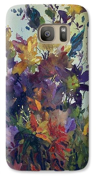 Galaxy Case featuring the painting Colorburst by Helen Harris