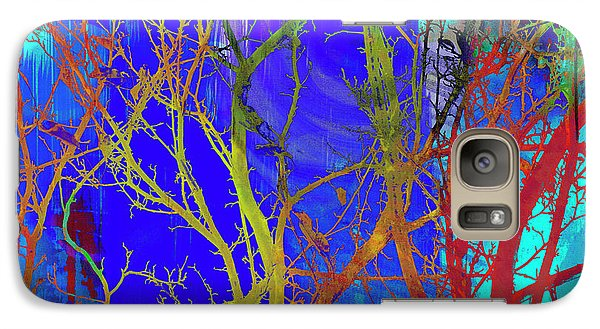 Galaxy Case featuring the photograph Colored Tree Branches by Susan Stone